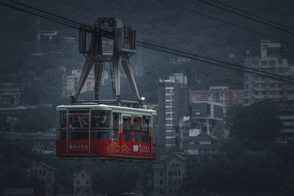 Film Production Company Chongqing City Mbrella Films Cable Car