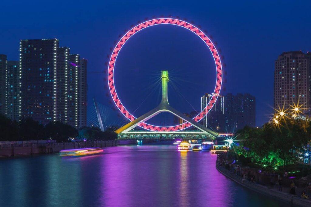 Film Production Company Tianjin Ferris Wheel Tianjin Eye